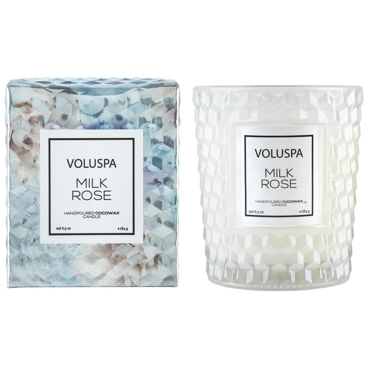Voluspa - Milk Rose Textured Class Candle 40tim