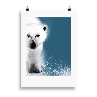 Isbjørn blå