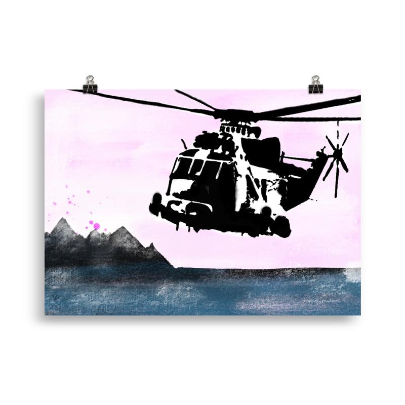 Sea King pink sky