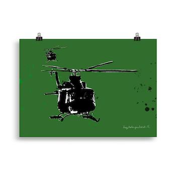 Bell 412 grønn