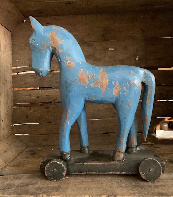 Trähäst Koboltblå L