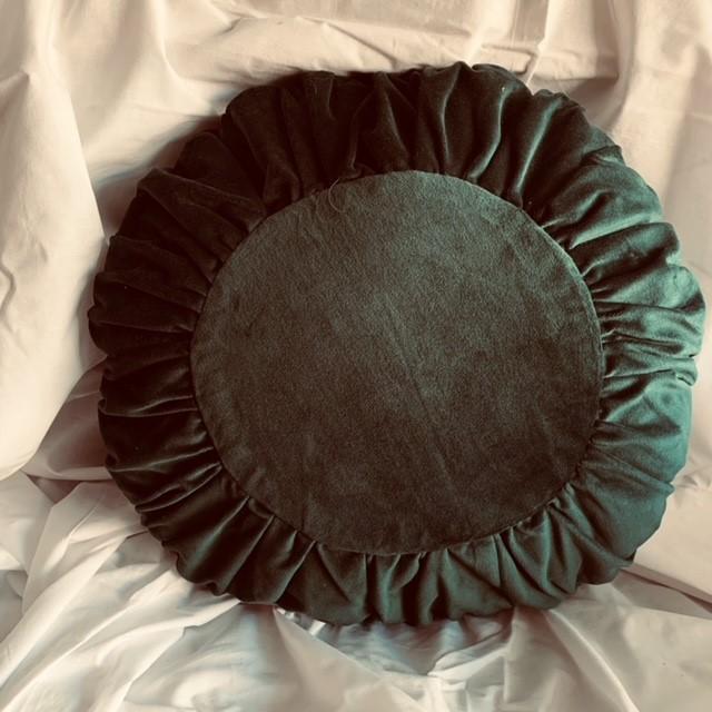 Kudde mörkgrön rund