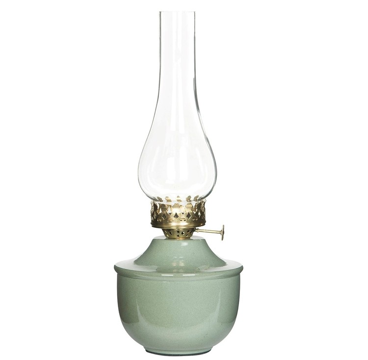 Fotogenlampa för Värmeljus Grön