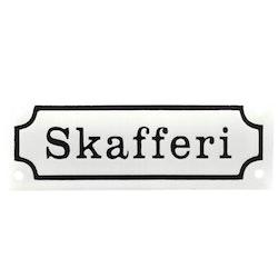 """Skylt Emalj """"Skafferi"""""""