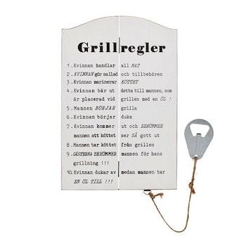 "Skylt ""Grillregler"""