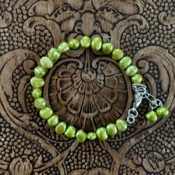 Armband Sötvattenspärla Grön