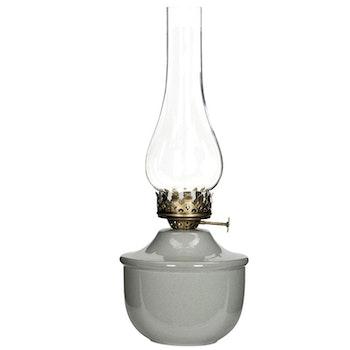 Fotogenlampa för Värmeljus Grå emalj