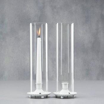 Ljuslykta cylinder Vit
