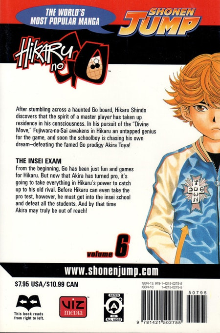 Hikaru no Go volume 6 - baksida