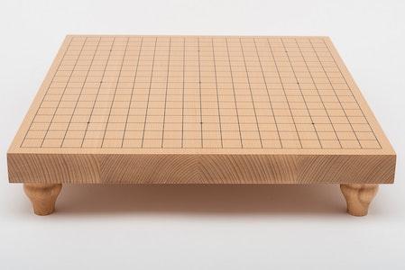 19x19-bräde i bokfanér med ben, 3,6 cm tjockt