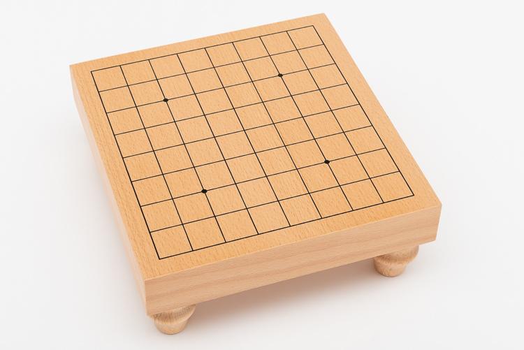 Go-spel 9x9, bräde med ben, glasstenar och mörka träskålar