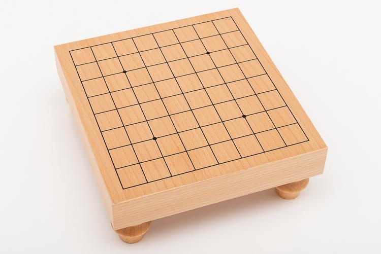 Go-spel 9x9, bräde med ben, glasstenar och träskålar