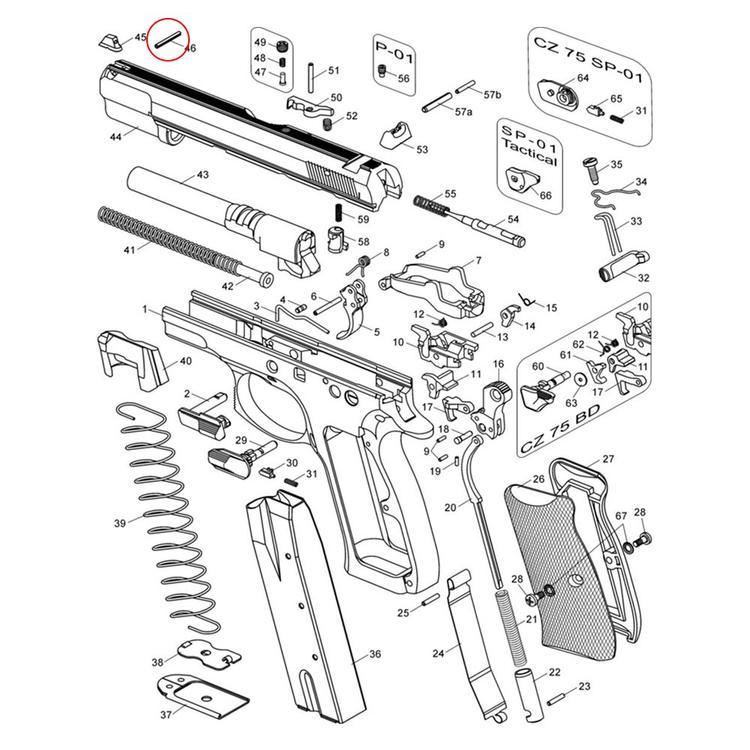 Eemann Tech Front Sight Pin for CZ