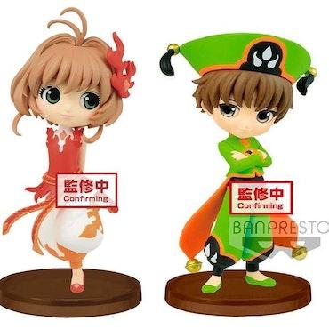 Cardcaptor Sakura Q Posket Figurer Sakura Kinomoto & Syaoran Li (Banpresto)