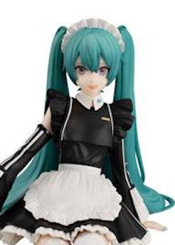 Vocaloid Noodle Stopper Figure Hatsune Miku Sporty Maid Ver. (FuRyu)