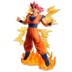 Dragon Ball Super Dokkan Battle 6th Anniversary Ichibansho Figure SS God Goku (Bandai Spirits)