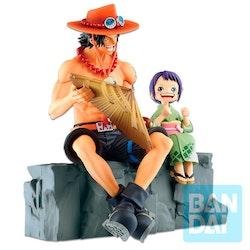 One Piece Ichibansho Figure Memorial Vignette Ace and Otama (Bandai Spirits)