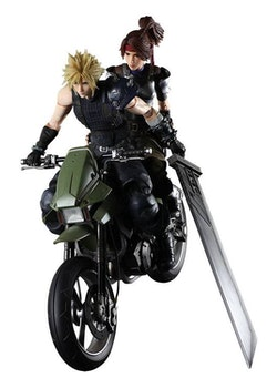 Final Fantasy VII Remake Play Arts Kai Action Figures & Vehicle Jessie, Cloud & Bike (Square Enix)