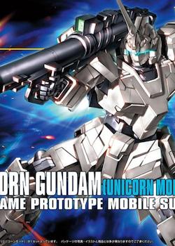 HGUC Unicorn Gundam Unicorn Mode 1/144 (Bandai)