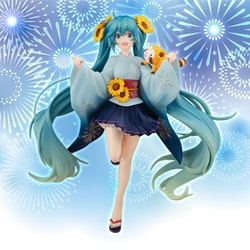 Vocaloid Special Figure Hatsune Miku & Araiguma Rascal Summer Festival Ver. (FuRyu)