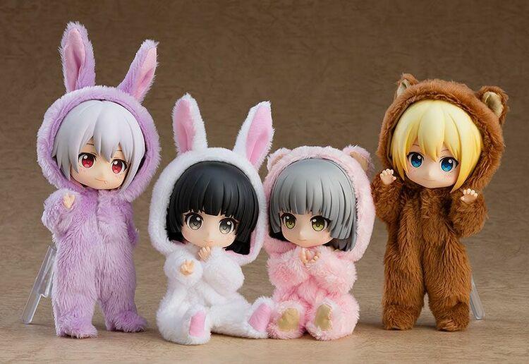 Original Character Parts for Nendoroid Doll Figures Kigurumi Pajamas (Rabbit - White)