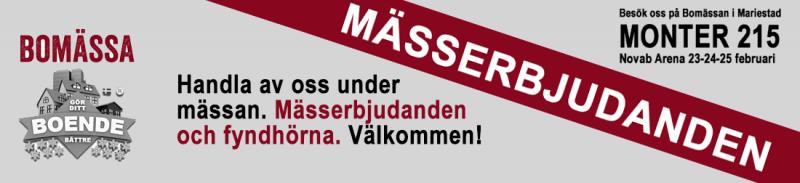 Besök oss under Bomässan i Mariestad