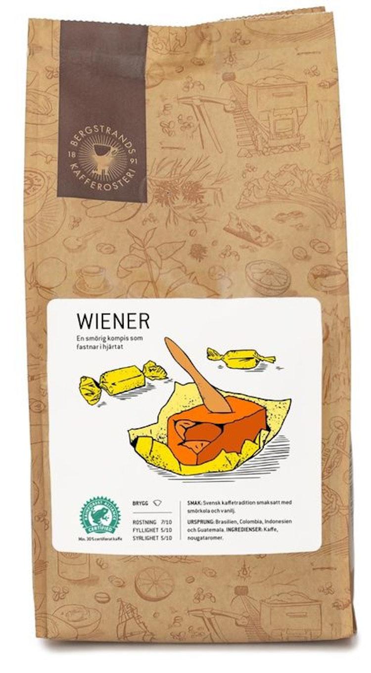 Wiener, kaffe  med smak av ljuvlig smörkola - för läckergommen!