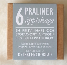 Pralinbox: Äpplekaga 6 bitar 60g