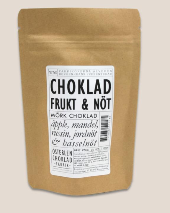 Chokladrutor Frukt & Nöt 80g