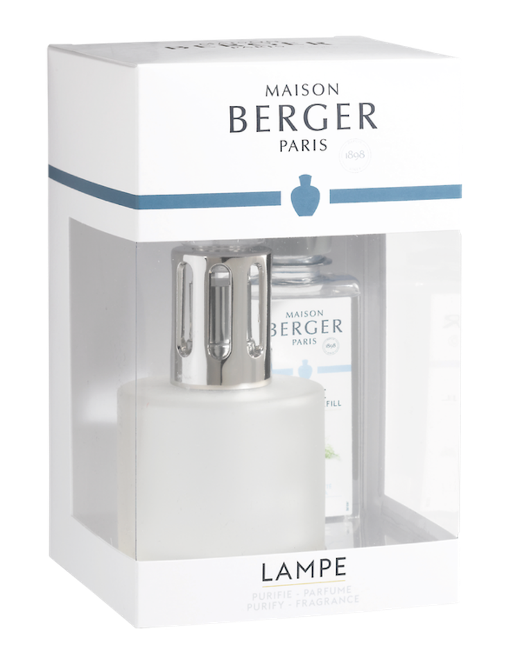 Doftlampa Coffret Cocoon Frosted presentförpackning, pure white tea - Maison Berger (Lampe Berger)