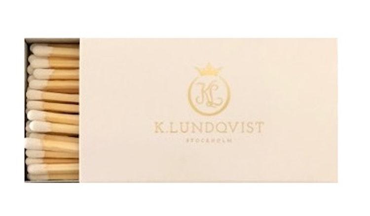 Tändstickor extra långa exklusiv vit K.Lundqvist