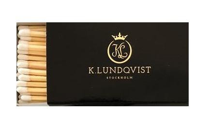 Tändstickor extra långa exklusiv svart K.Lundqvist