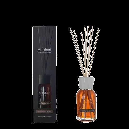 Doftpinnar / diffuser 100 ml Vanilla & Wood - Millefiori Milano
