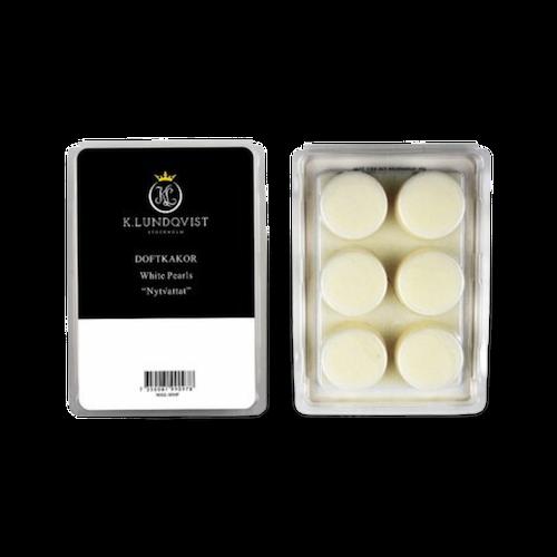 Vaxkakor / doftkakor till aromalampa  White Pearls  från K.Lundqvist med härlig doft av nytvättat!