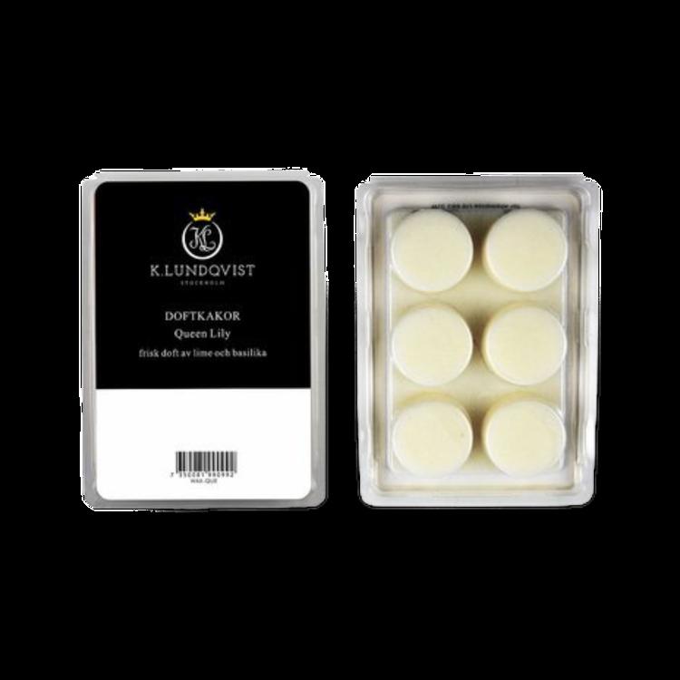 Vaxkakr / doftkakor till aromalampa Queen Lily från K.Lundqvist, frisk doft av färska kryddor, citrus och vita liljor!