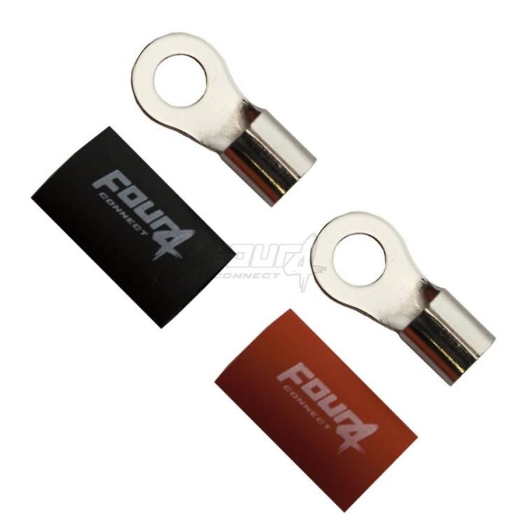 4 Connect M8 Ringkabelsko, 2-pack