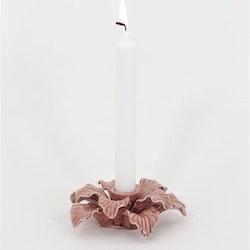 Rosa ljusstake Fenja handgjord