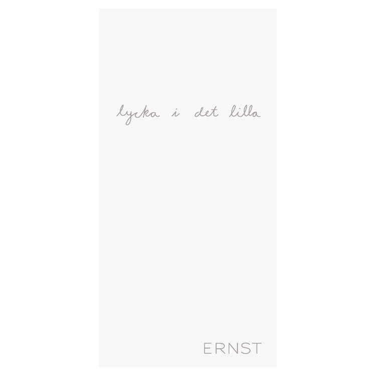 Ernst servett med citat