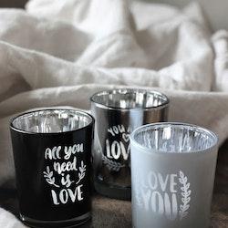 Love Lykta Svart