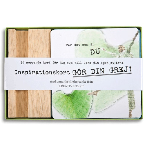 Inspirationskort Gör din grej!