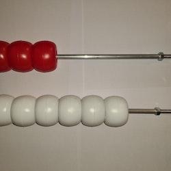 Kopia Domarkulor med lång ram, komplett för 1 bana