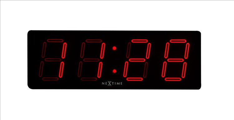 LED-Klocka Big D från NexTime