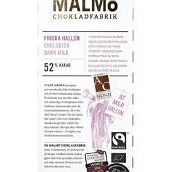 Malmö Chokladfabrik Friska Hallon 80g