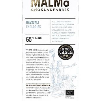 Malmö Chokladfabrik Havssalt 80g