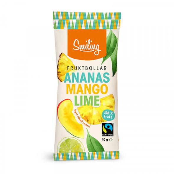 Fruktbollar Mango, ananas & lime