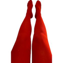 Strumpbyxor Körsbärsröda - Small-Large