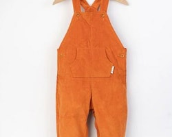 Hängselbyxor ekologisk bomull 12mån-5år - Marmelad