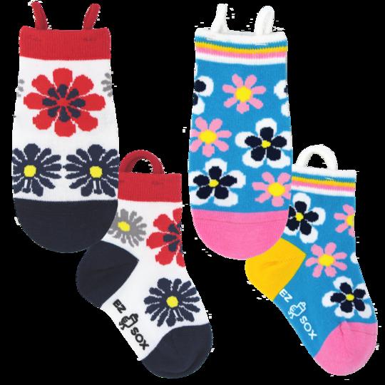 Barnstrumpor mönstrade med blommor - Ezsox