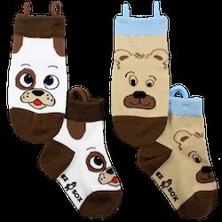 Ezsox barnstrumpor - hund & björn 2-pack (31-34)