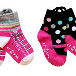 Ezsox barnstrumpor -Sneaker/ballerina 2-pack (19-22)